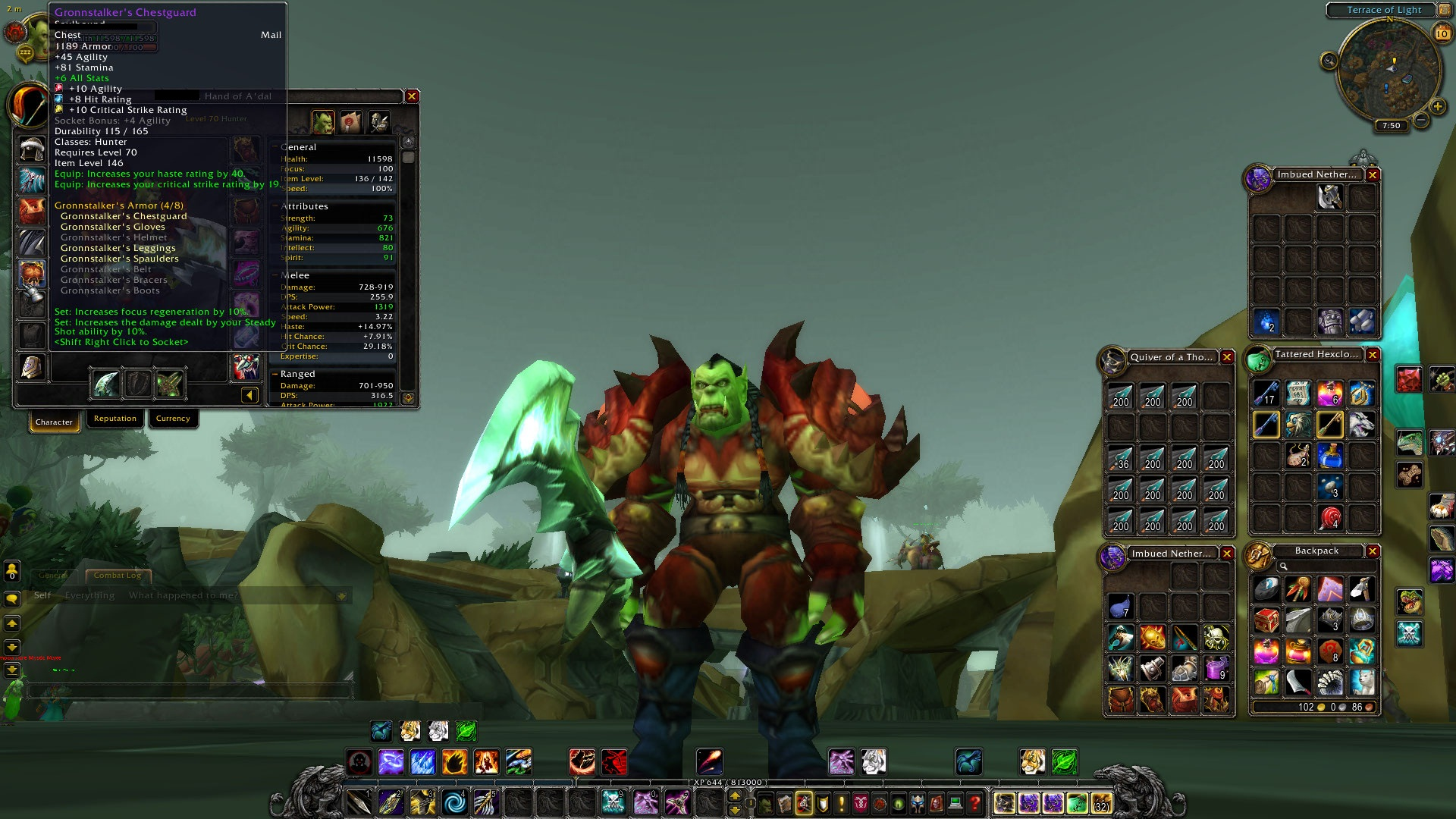 Buy for Sale Level 73 Orc Hunter - 4/8 Tier 6, PvP Set ...