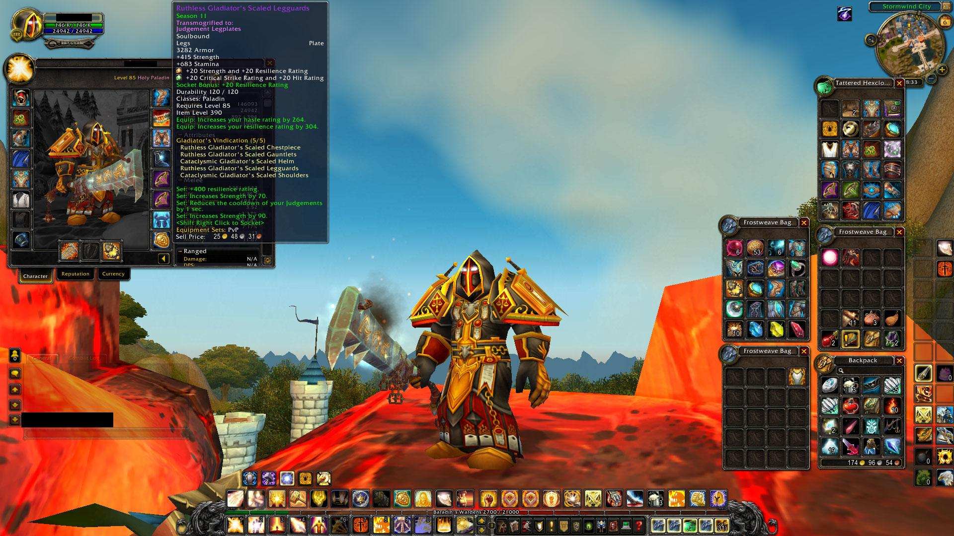 Buy For Sale Level 85 Dwarf Paladin Pvp Ret Pvp Holy And Pve Ret Sets 394 Ilevel Tyrael S